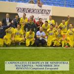 Campionatul European de Minifotbal Macedonia - Noiembrie 2014, Romania - Campioana Europeana